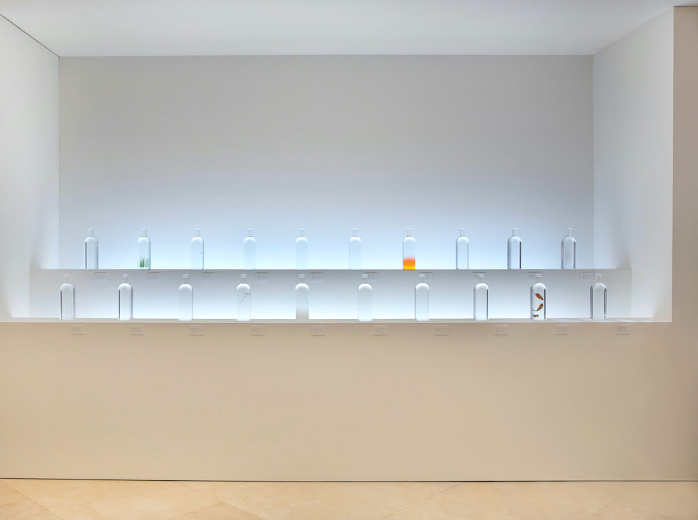 The 20 bottles comprising Rain Bottle