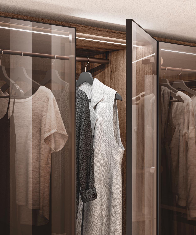 Scavolini closet, close up