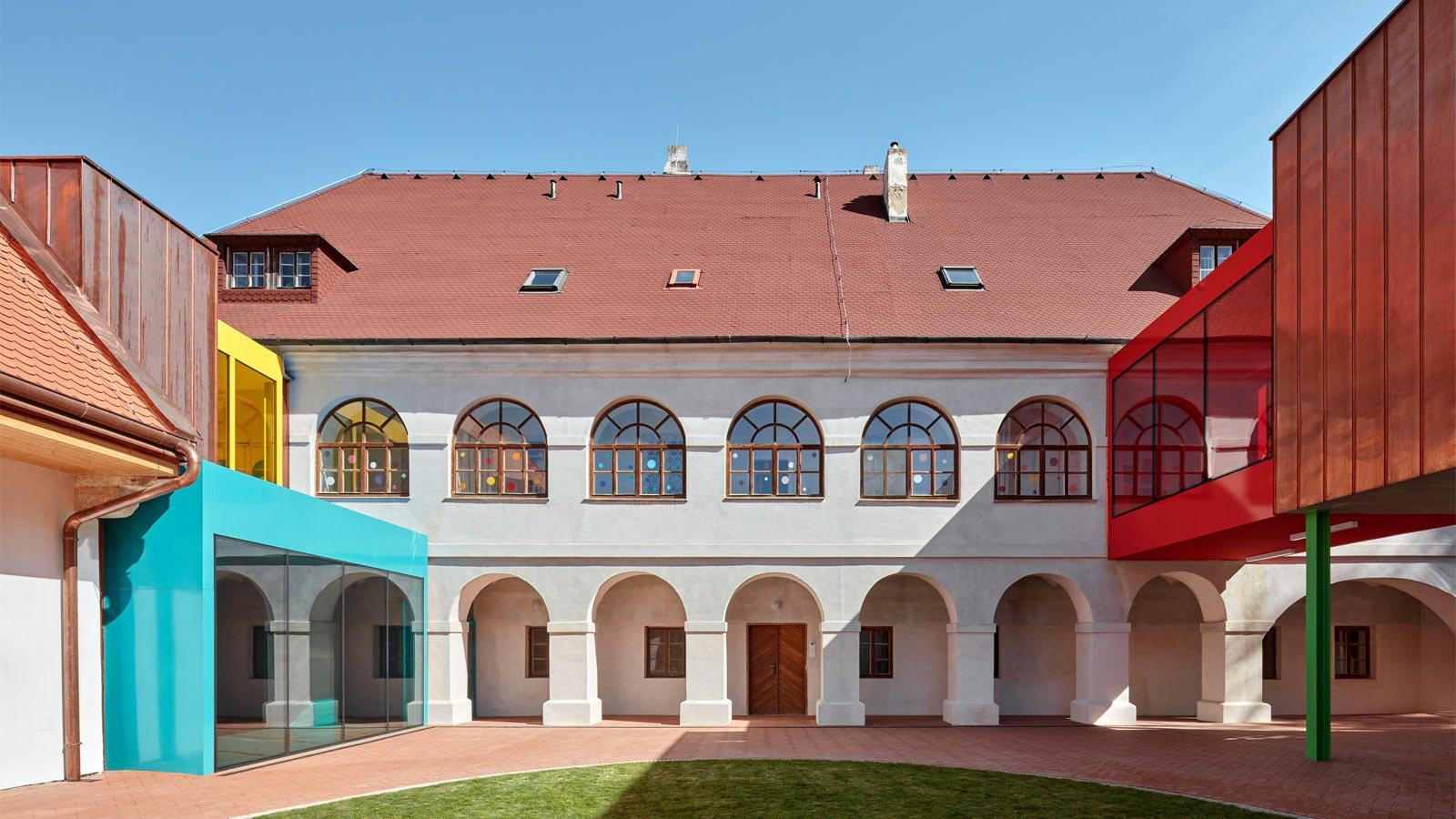 Elementary School Vřesovice, Czech Republic, outside shot