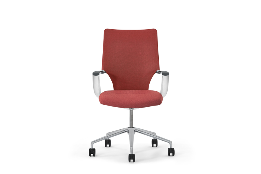 Red Swivel Chair front view