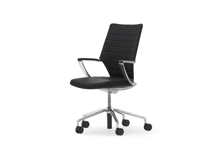 Black Swivel Chair side view