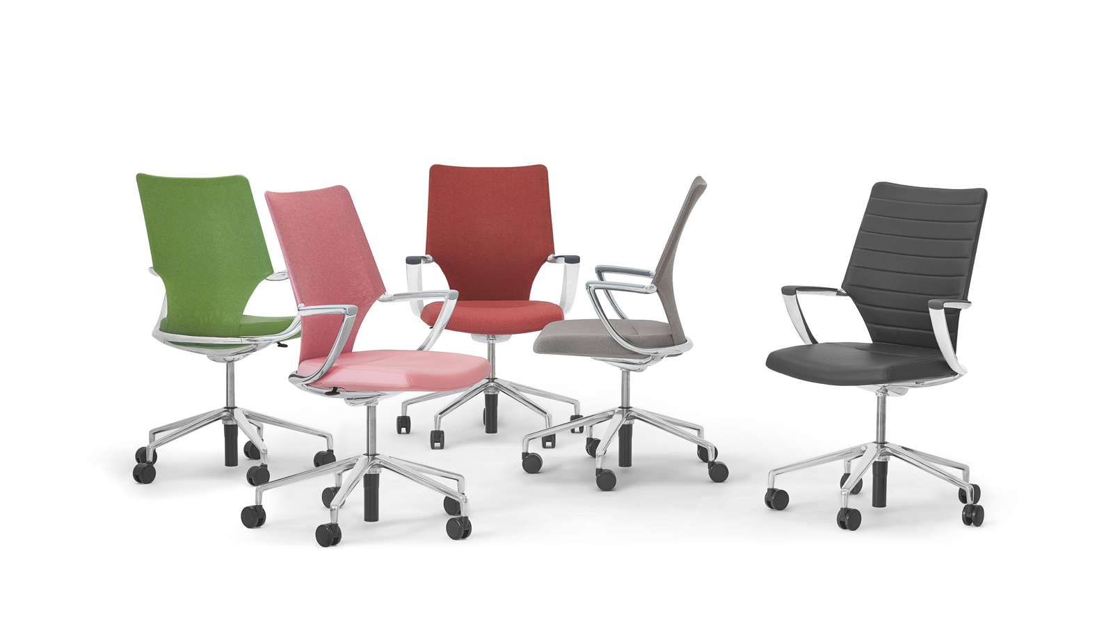 Assortment of swivel chairs in various colours
