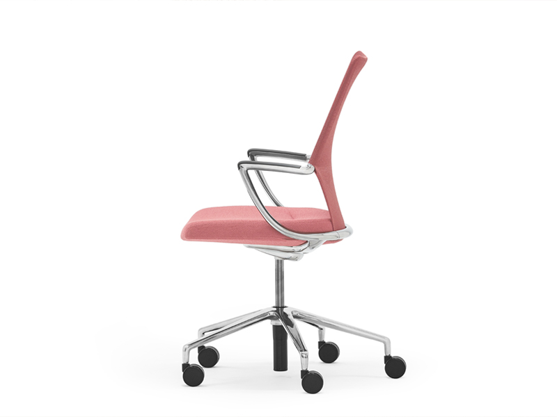 Pink Swivel Chair side view
