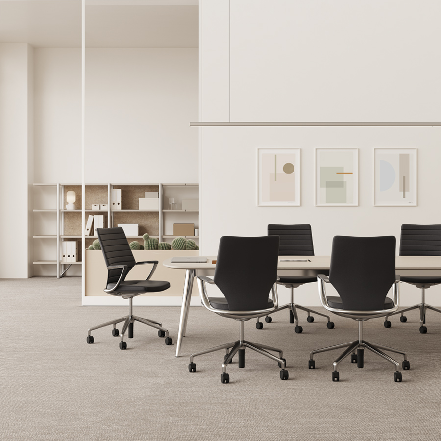 Office space with swivel chairs