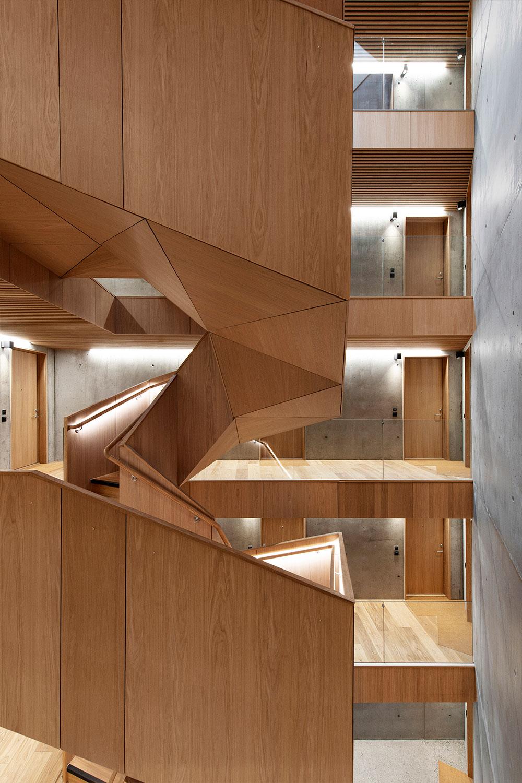 Pilestredet Apartments interior staircase