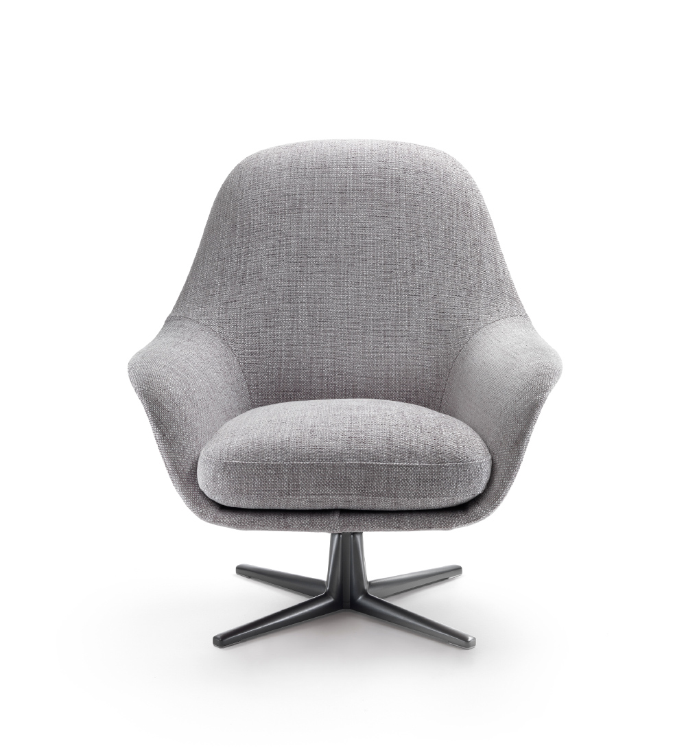 Flexform grey armchair