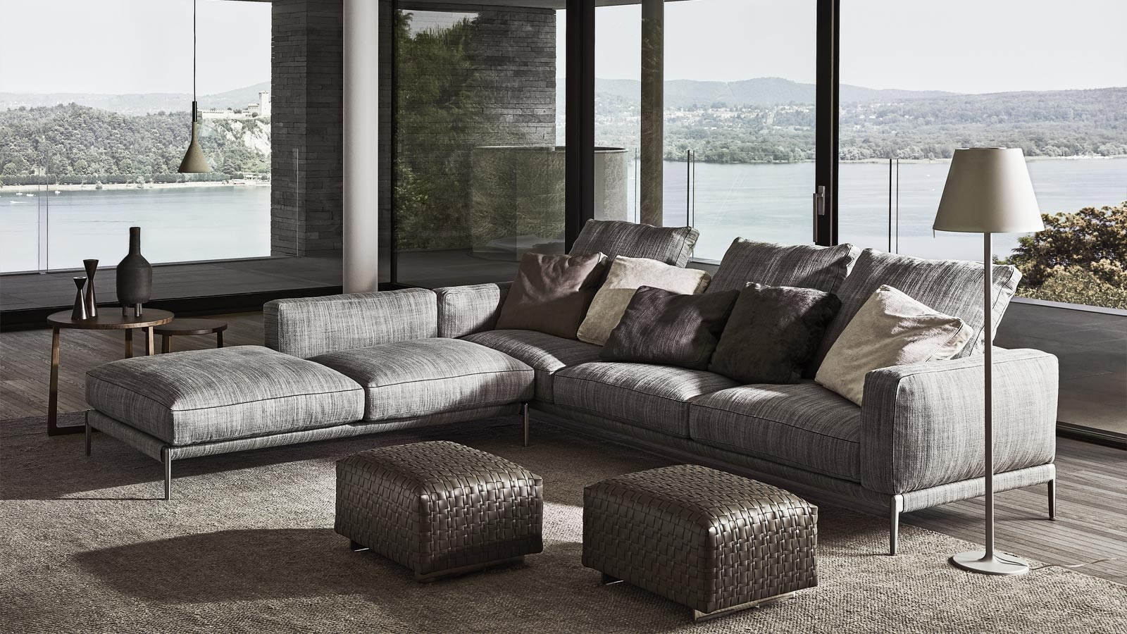 Flexform sectional sofa