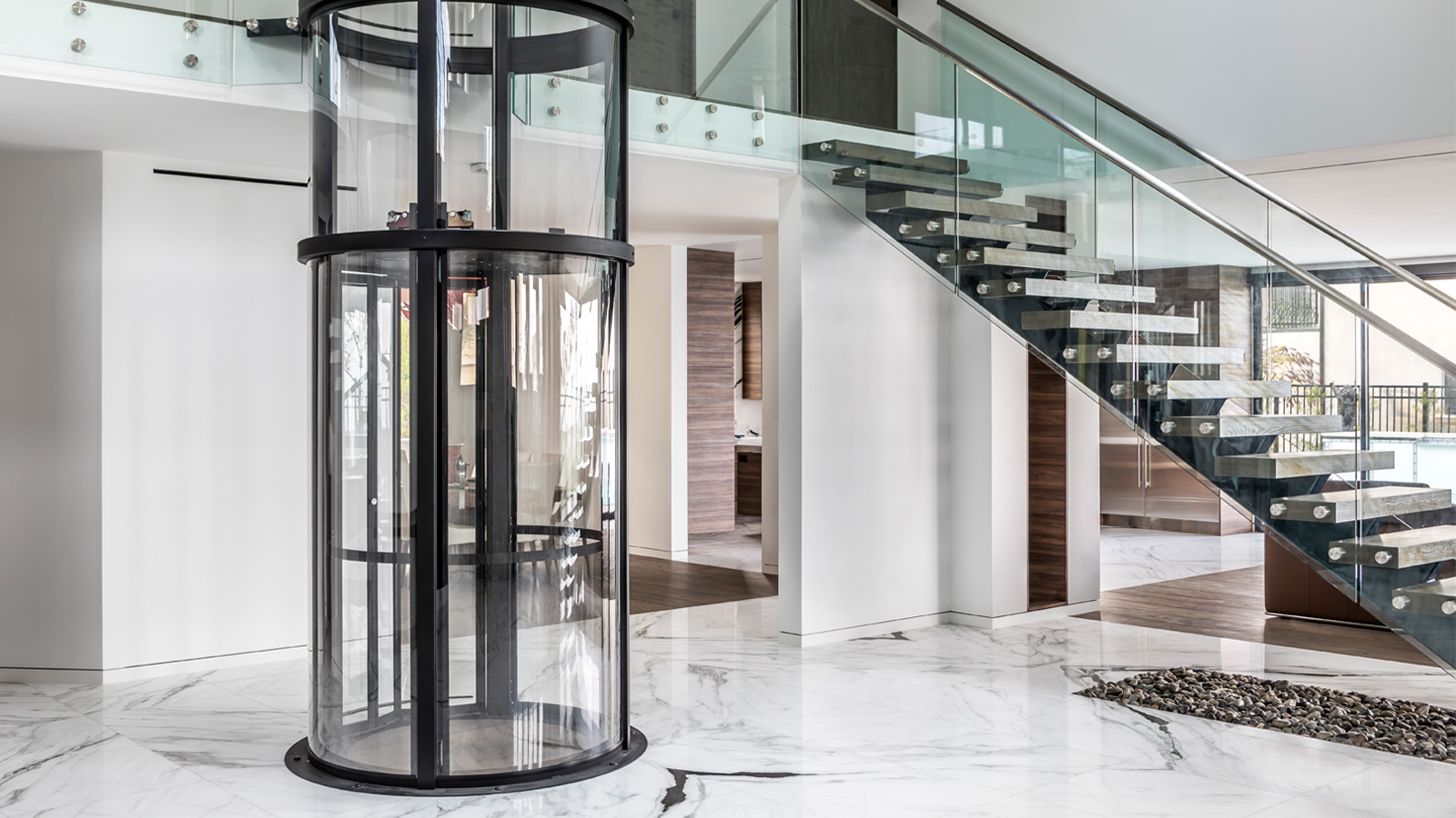 Vuelift Elevator by Savaria, round profile