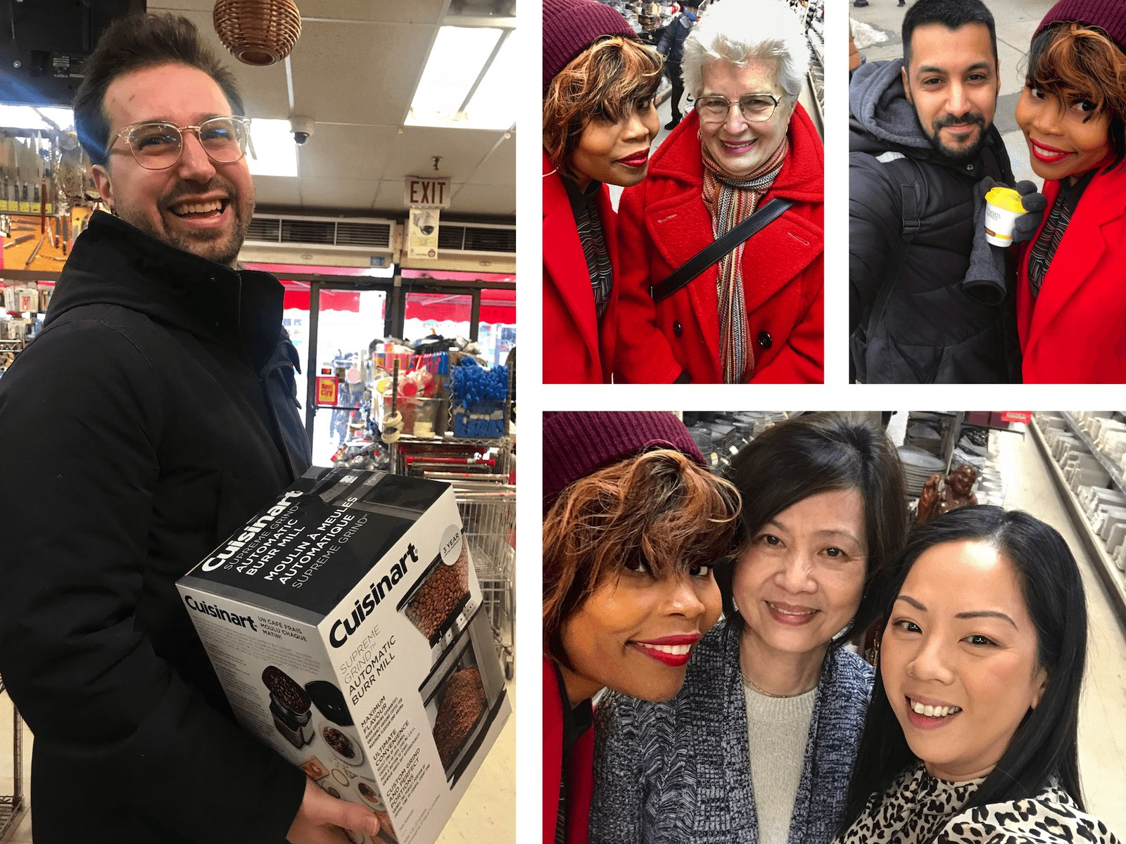 A collage of images showing Jay Pitter and Chinatown walk participants,