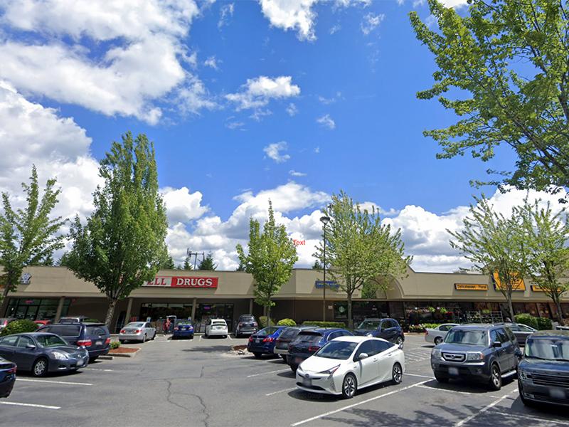Strip mall parking lot