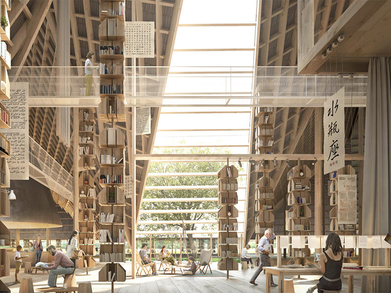 2020 interior winner of Render of the Year - Education Station by AMDL CIRCLE
