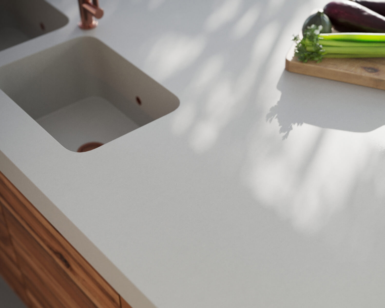 Grey Silestone countertop