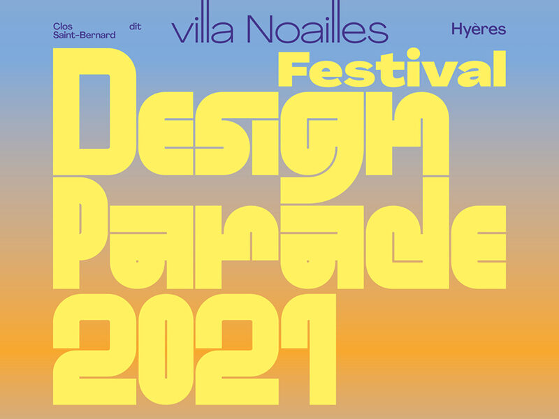 Design Parade 2021 on blue to orange gradient