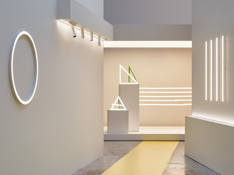 Symphony by ambience. 2020 winner in Exhibition Booth lighting
