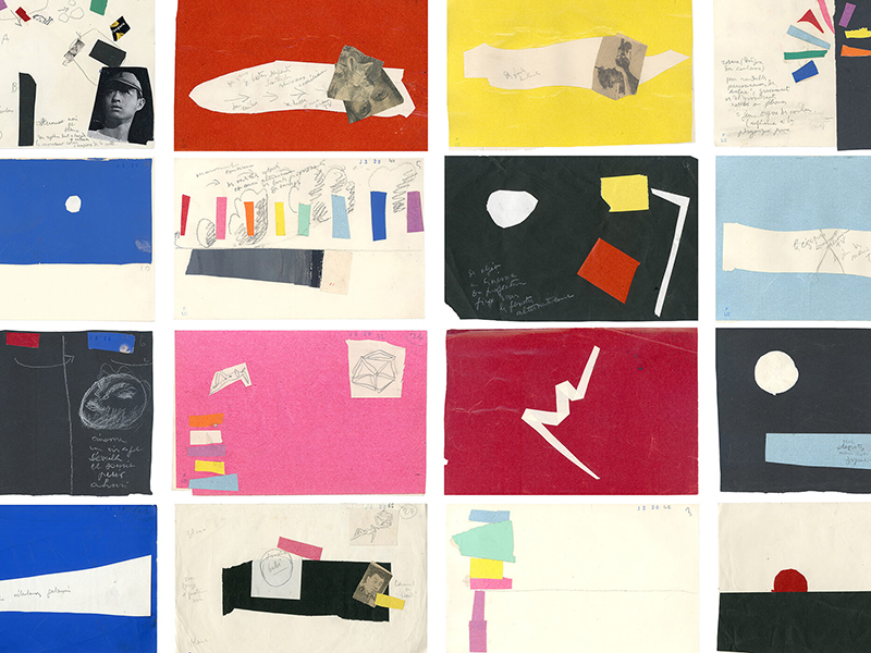 Colourful drawings by Le Corbusier