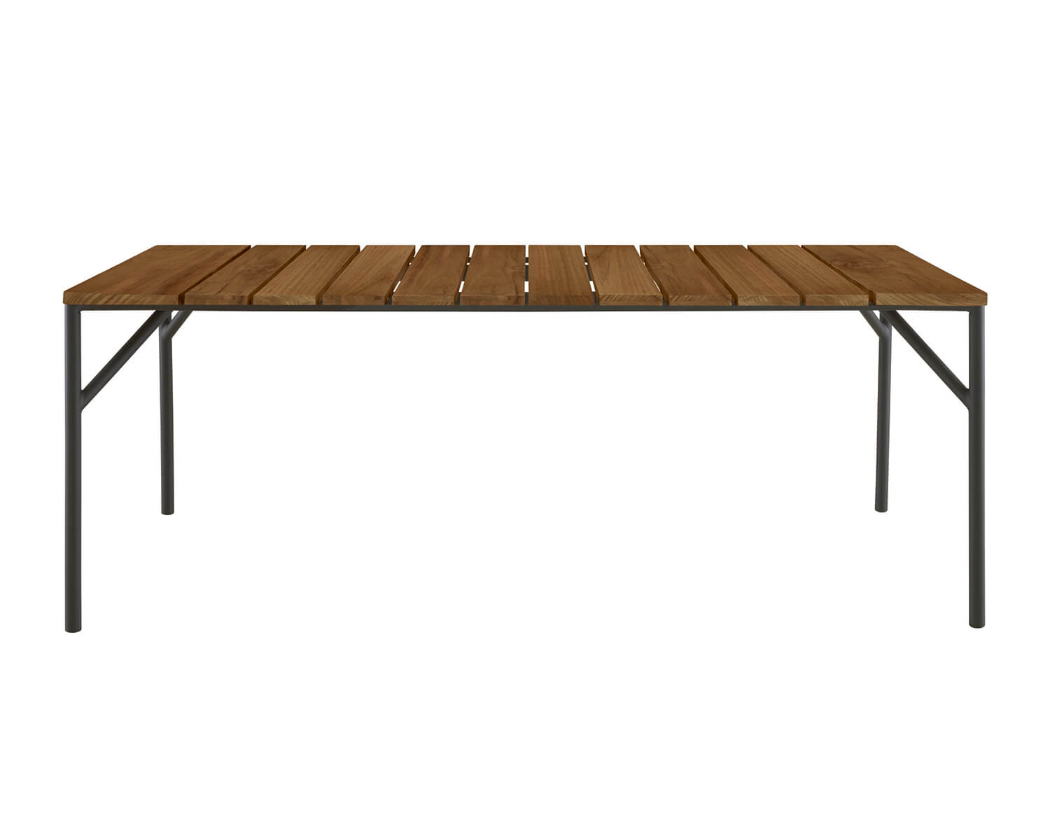 View of the Lapel rectangular table from the long side
