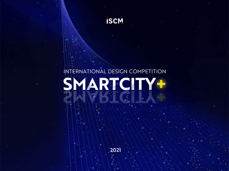 International Design Competition SmartCity+ on navy and black background