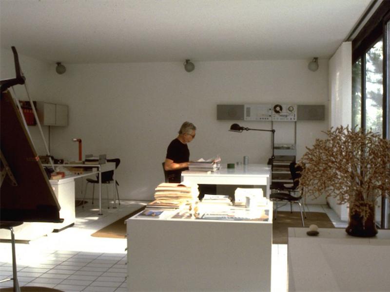 Dieter Rams in his studio