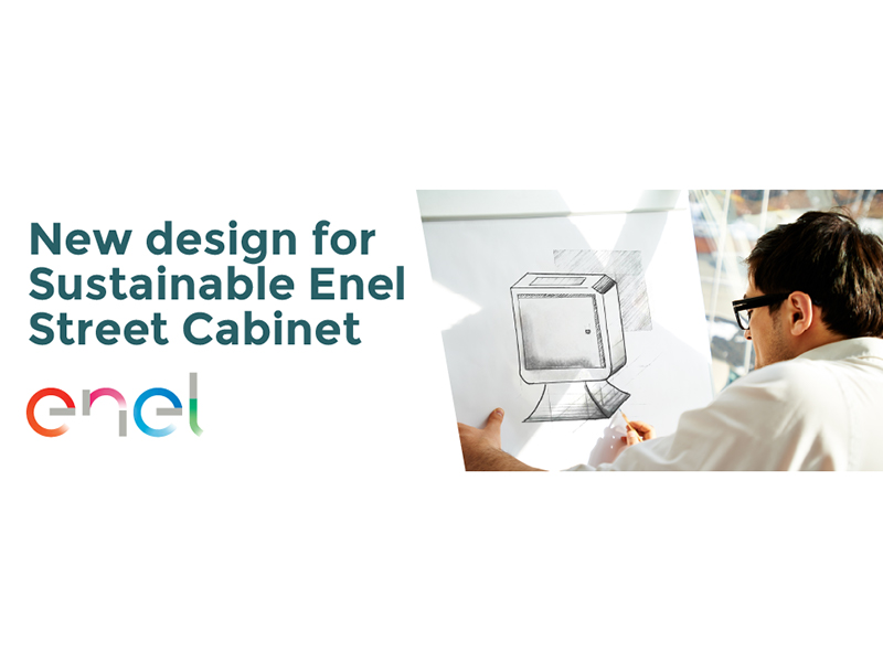 New Design for Sustainable Enel Street Cabinet