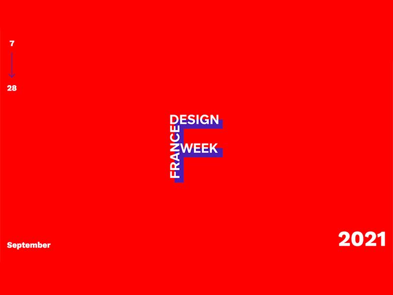 France Design Week logo on red background