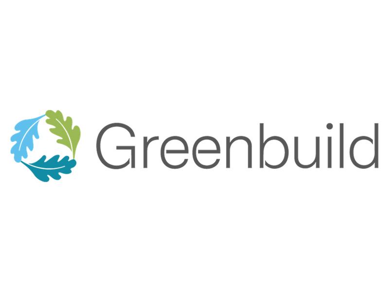 Greenbuild logo on white background