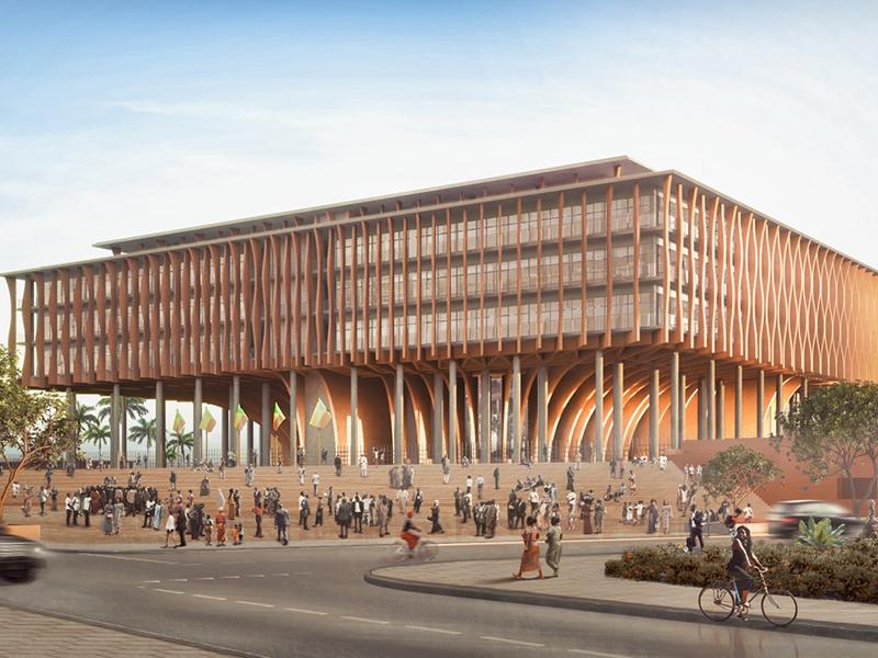 Benin National Assembly, in planning. Architecture: Kéré Architecture.