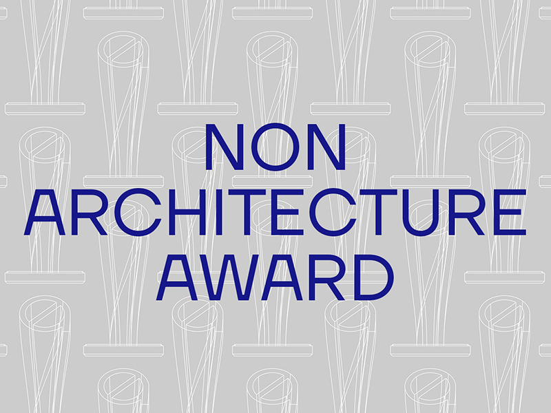 Non-Architecture Award in blue text on grey background