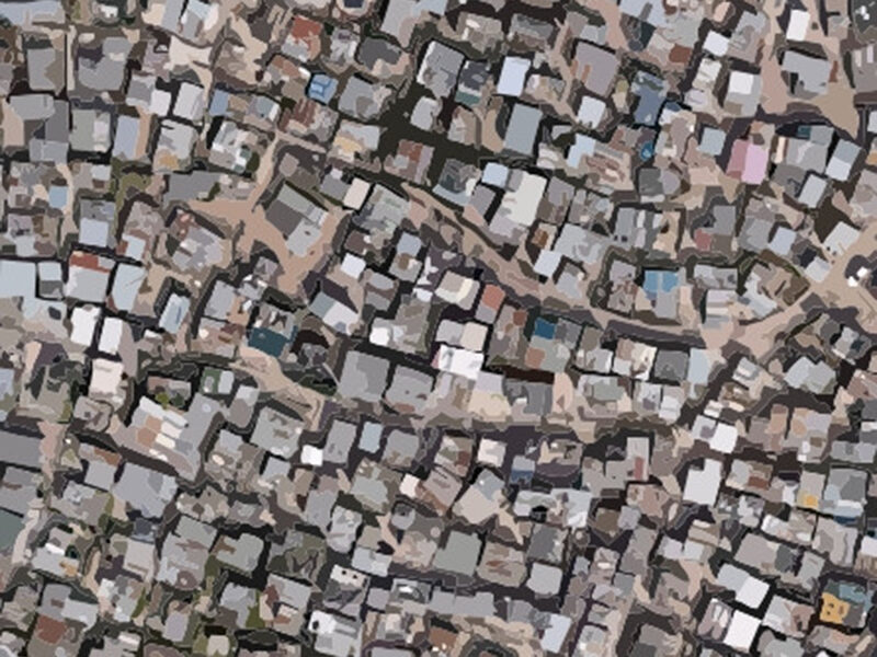 Abstract image of slums from above