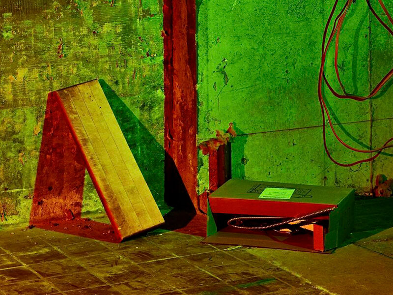 Green and red painting