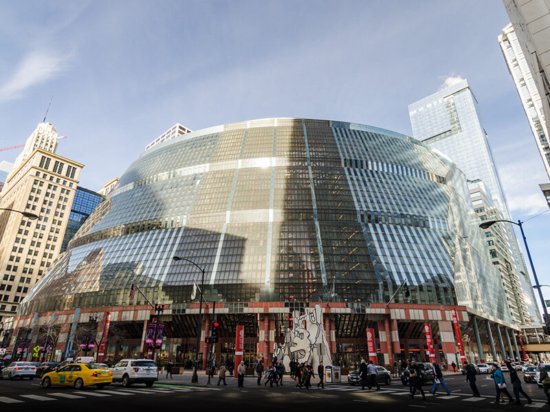 External view of the Thompson Center