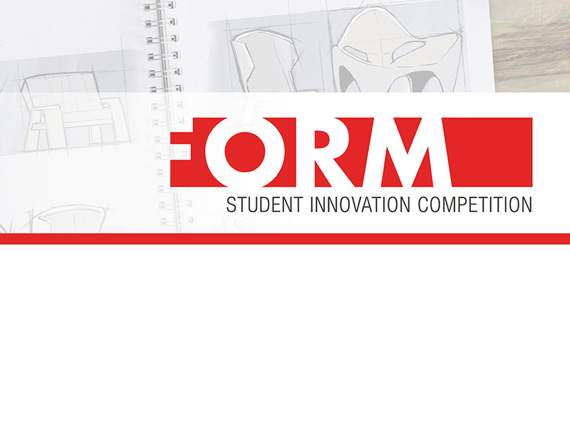 Sketches of furniture. Text reads: Form Student Innovation Competition.